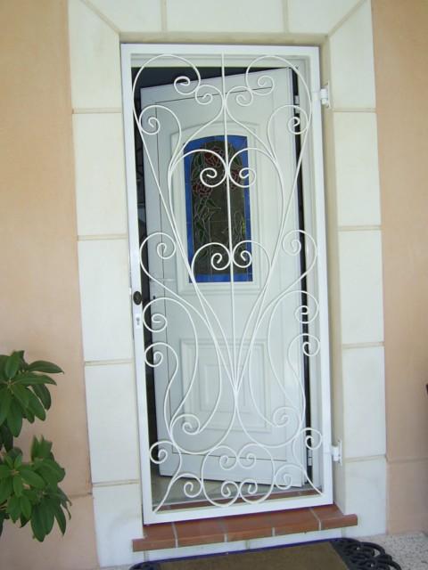 Porte Dentrée De Sécurité Décoratif Réalisation Ferronnerie - Grille ouvrante pour porte d entrée