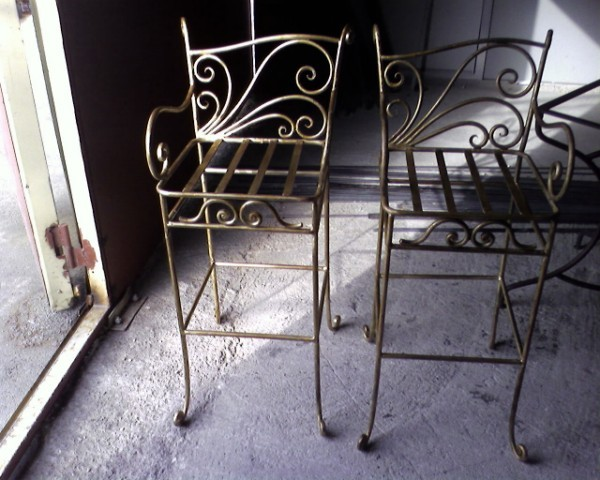 cr ation tabouret de bar fer forg marseille aix en provence vitrolles ferronnerie pour garde. Black Bedroom Furniture Sets. Home Design Ideas