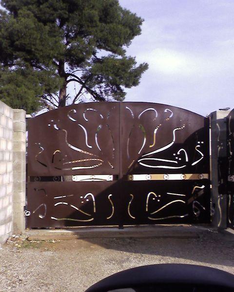 d coration de portail avec tole et d coupe laser personnalis e aix en provence les pennesz. Black Bedroom Furniture Sets. Home Design Ideas